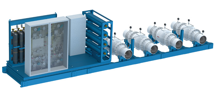 Safety valves with pneumatic control system