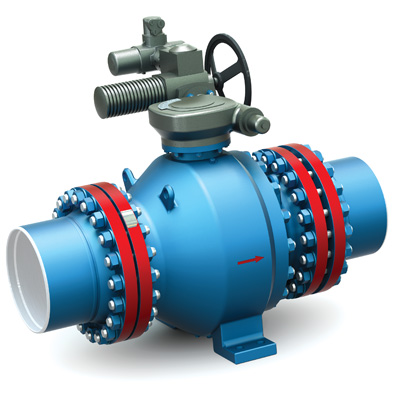 Stop and control ball valves